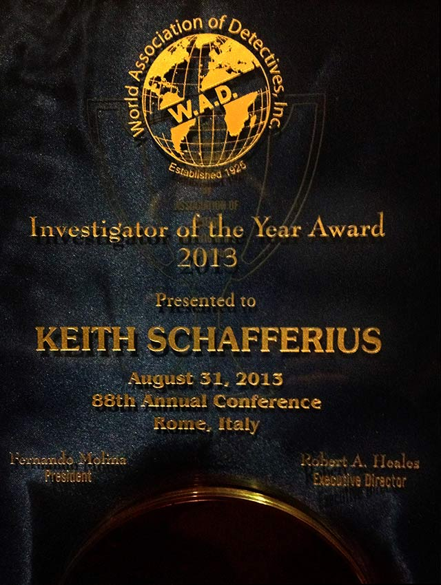 private investigator of the year 2013